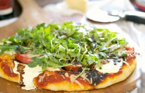 Arugula and Balsamic Pizza | The Realistic Nutritionist