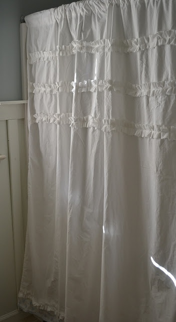 Shower Curtain From A Goodwill Sheet Bathroom Ideas