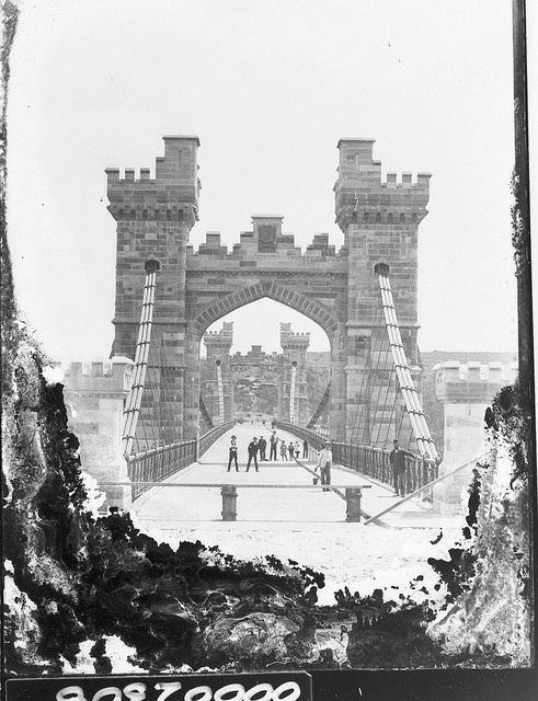 Long Gully Bridge from Northbridge to Cammeray in Sydney prior to opening c 1892 via ANMM (Flickr Commons).