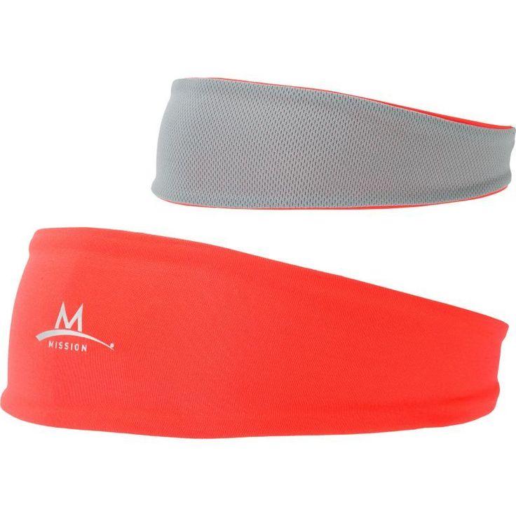 Mission Enduracool Lockdown Cooling Headband, Pink/Grey