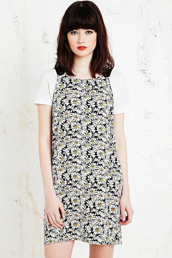 Cooperative Apron Dress in Daisy Print
