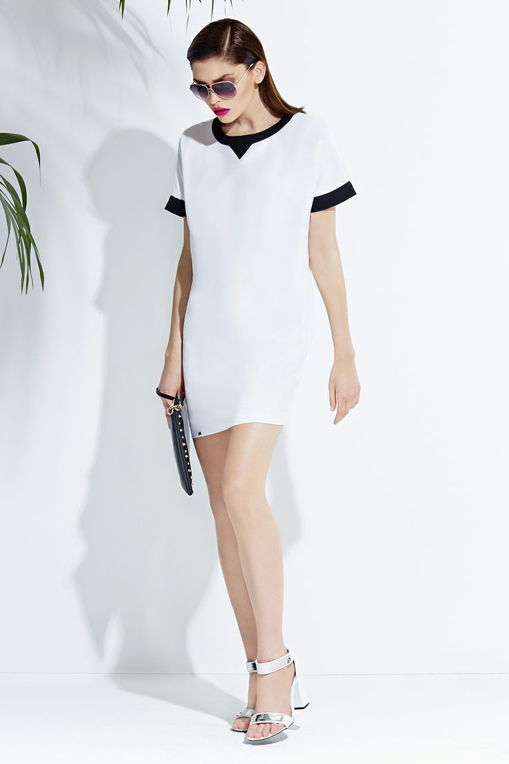 White dress & sandals #white #fashion #style