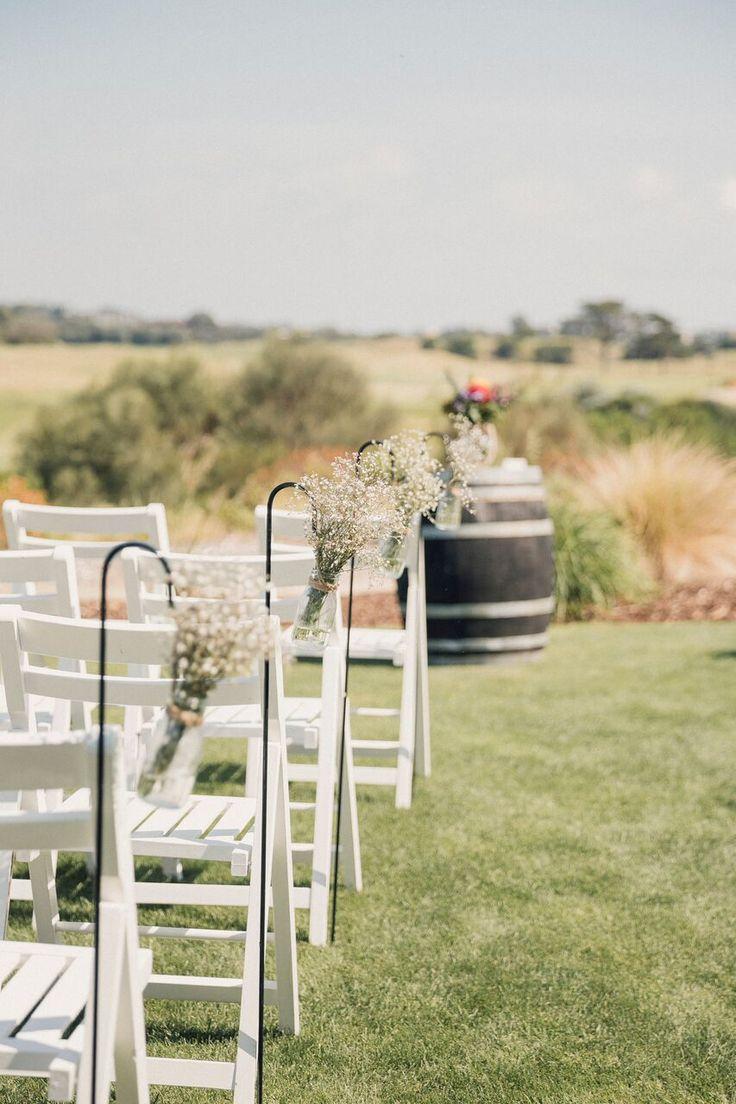 Wedding ceremony set-up @ Peppers Moonah Links Resort