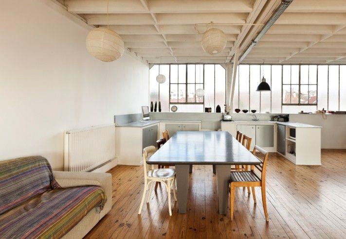 Foto der große offene Küche Industrie Design Loft 9 - offene küche mit insel