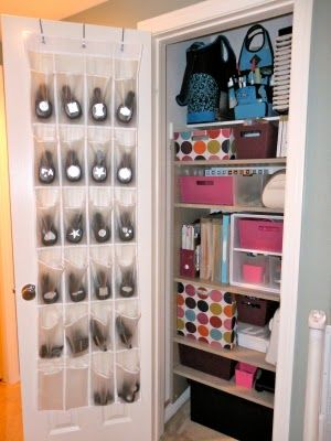 Small Space Craft Closet  Check This One Out Scrapbookers! Love The Shoe  Organizer For Punches.you See Them At A Glance.