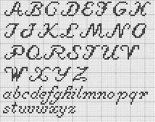 alfabeto in corsivo nonna a punto croce gratis - Cerca con Google