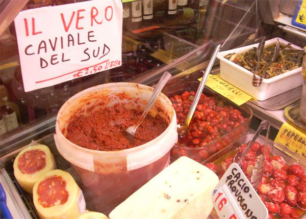 Sardella-a regional spicy italian fish delicacy that Calabrese use on breads, pastas, and whatever else they see fit.