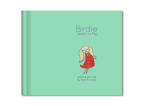 Birdie Learns to Fly Children\'s Book - written and illustrated by Mari Richards. SmallforBig.com #kids #illustration