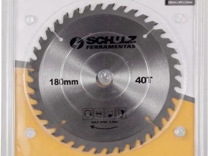 Disco de Serra Circular p/ Madeira 1 Peça - 180mm x 40T x 2 mm - Schulz com as melhores condições você encontra no Magazine Edmilson07. Confira!