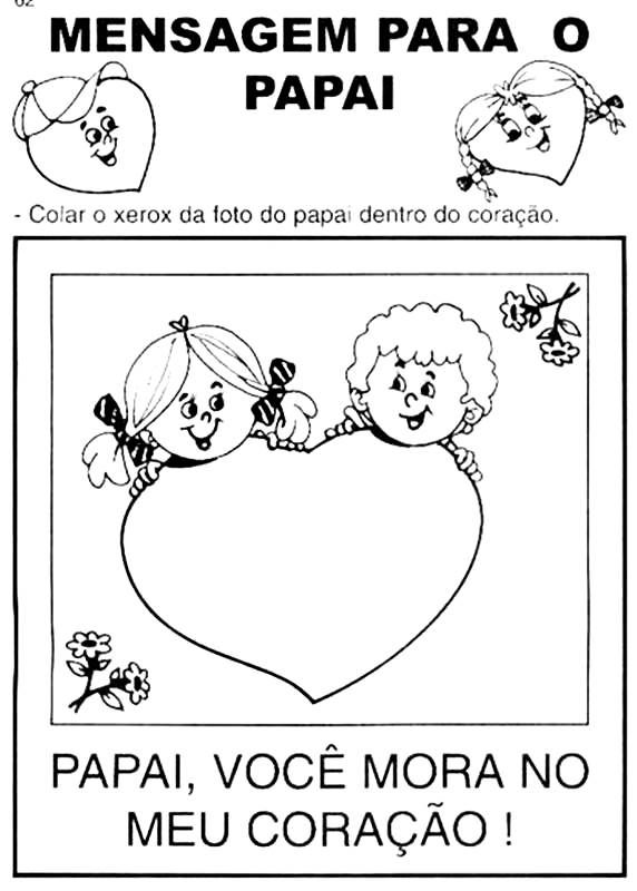 Desenhos E Mensagens Para O Dia Dos Pais Para Colorir Com Imagens