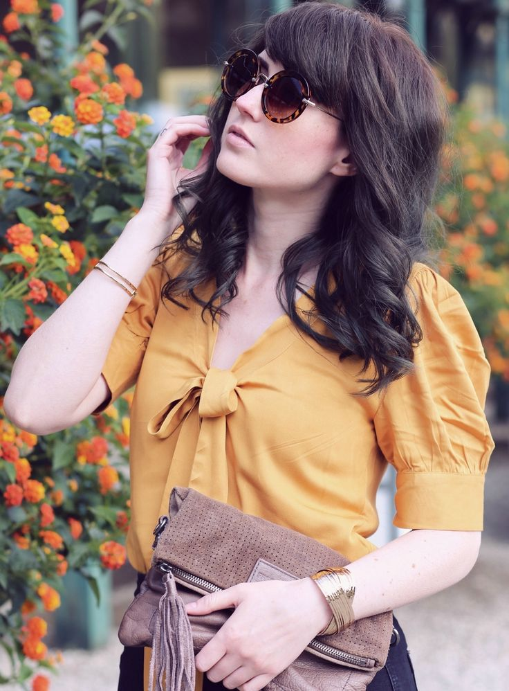 senf-farbene Bluse, Pepaloves, Schluppen Bluse, Mode Blog, niedliche Bluse, Fashion Blog, Like A Riot, Summer Outfit, Summer Style, Summer Look, Blogger Style