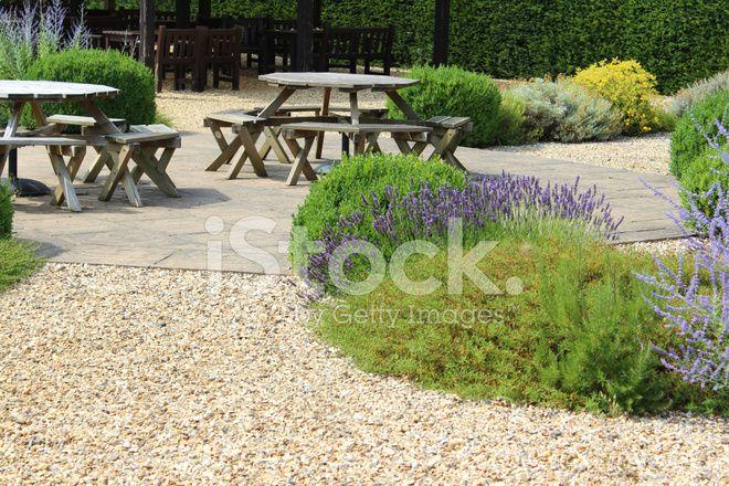 Immagine di ornamentale giardino di ghiaia / schermo fiore giardino, estate