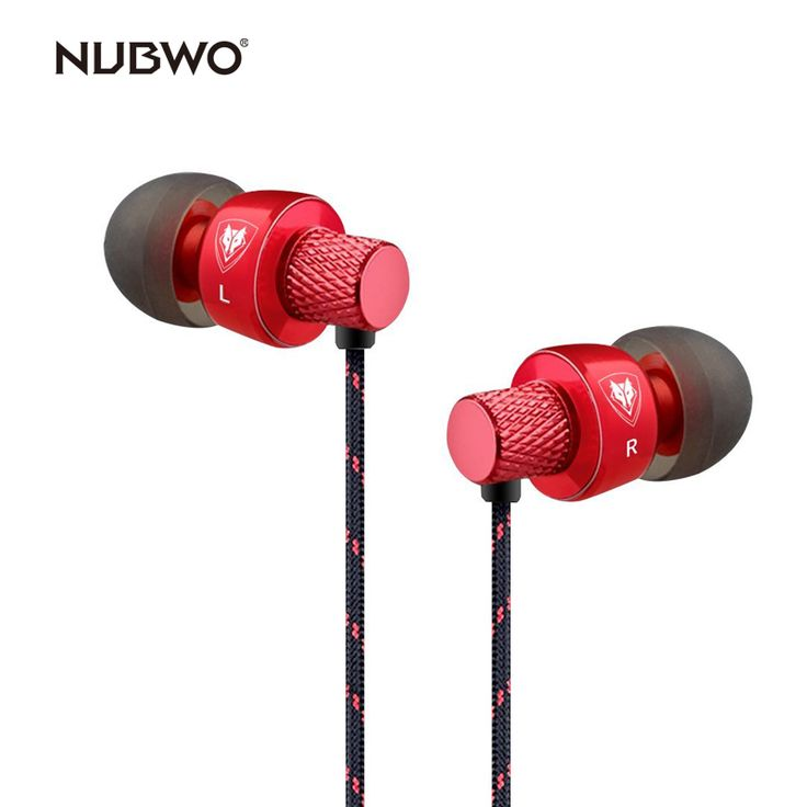 NUBWO In-ear Headphones Sport Earbuds Earphones Stereo Universal Wired Earphone with Mic for iPhone/iPo/iPad/Samsung. Yesterday's price: US $27.98 (23.14 EUR). Today's price: US $11.19 (9.25 EUR). Discount: 60%.