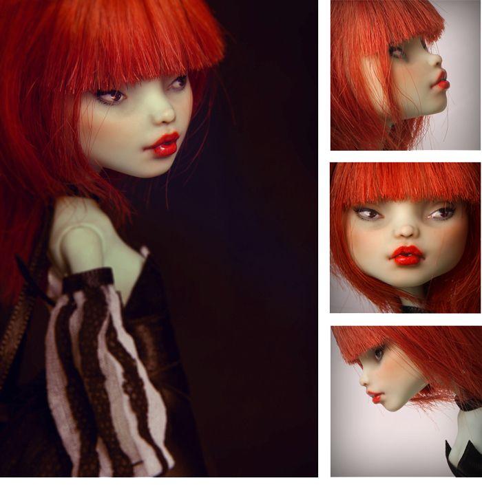 Francine portrait OOAK Monster High doll by Szklanooka.deviantart.com on @deviantART