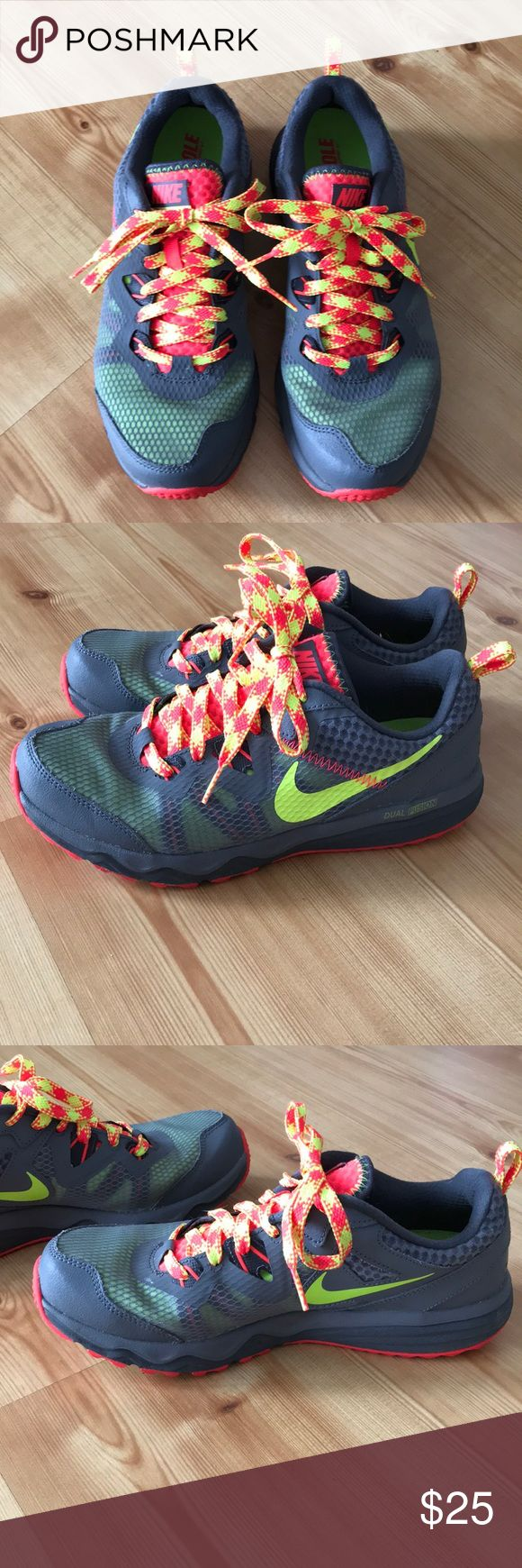 Nike Running Shoes Nike dual fusion trail women's running shoes in excellent condition. Worn a few times. Size 7.5 Nike Shoes Sneakers #trailrunningshoes