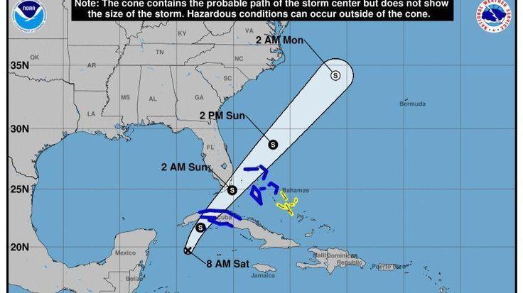 #Tropical #storm forecast track shifts closer to South #Florida...