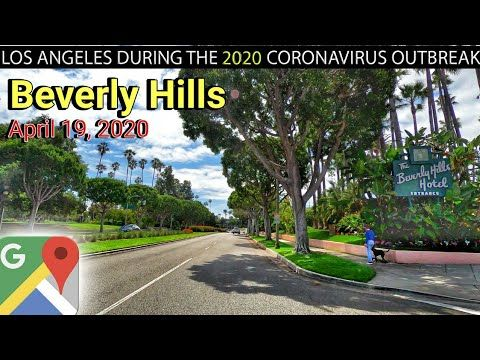 Beverly Hills California April 19 2020 Ambient Music And Google Maps Live Tracking In 2020 Beverly Hills California Los Angeles Beaches Los Angeles City