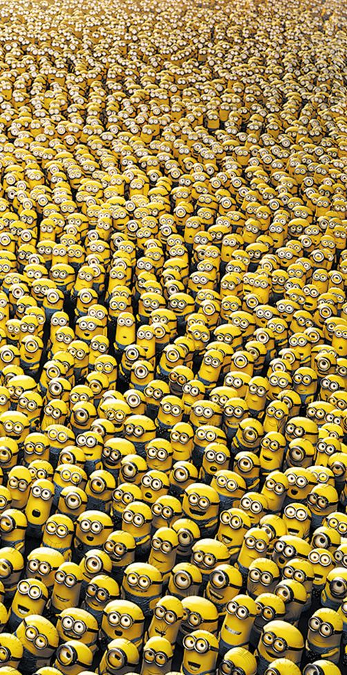 I love the minions! They're so cute I'm gonna die!