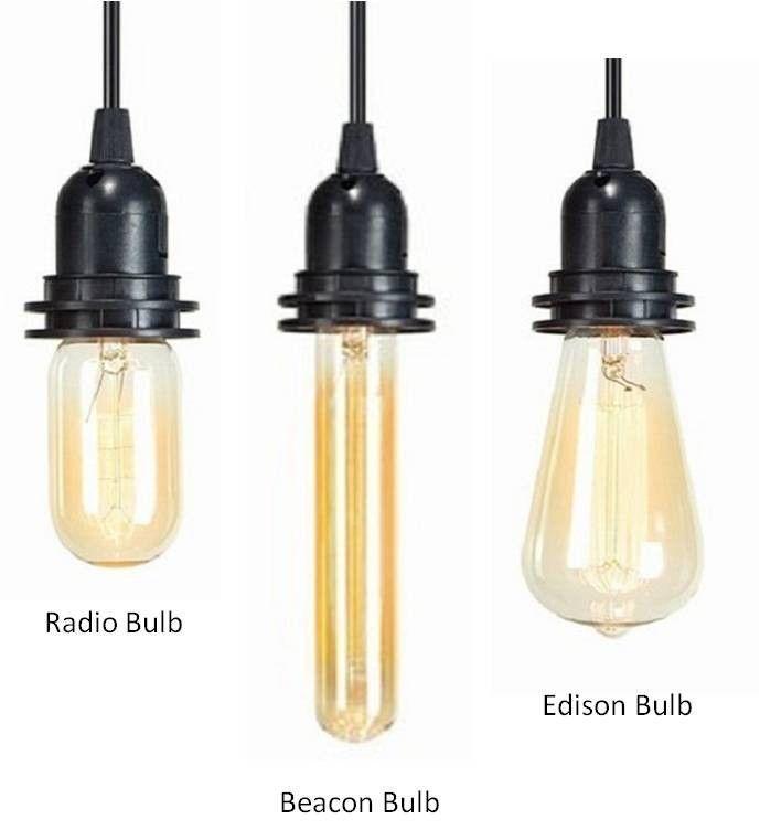 Antique Filament Light Bulbs - Set of 3