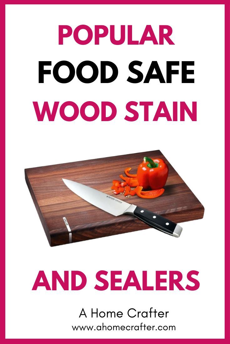 how to stain butcher block food safe