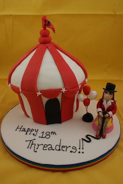 Circus Tent Giant Cupcake! by Cutie Cupcakes (aka Heather), via Flickr