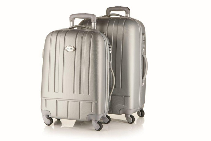 Travel in style with our gorgeous pull along silver suitcase.