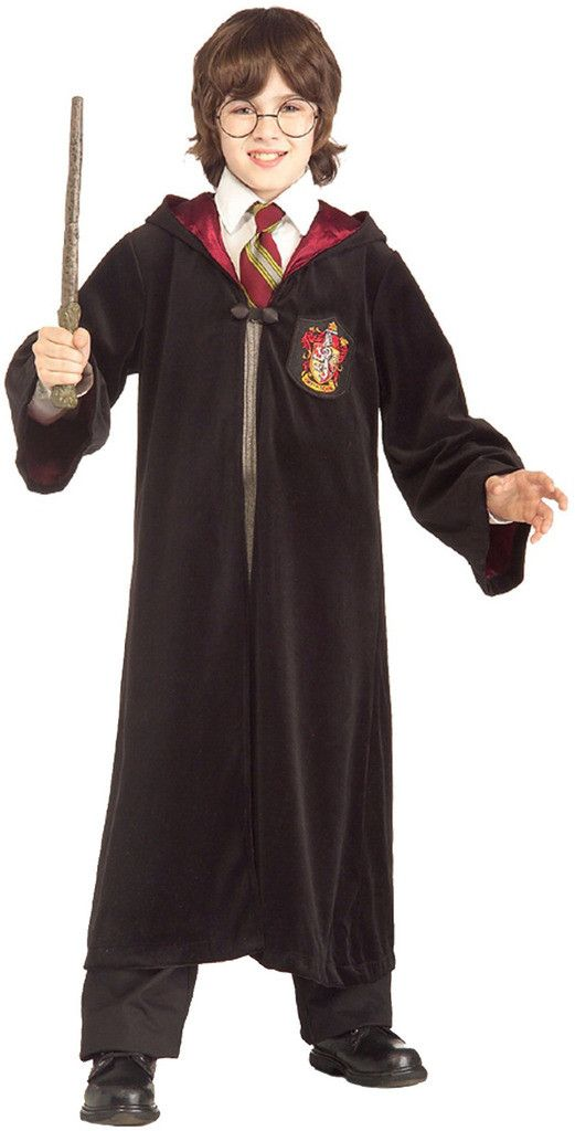 Harry Potter Premium Gryffindor Robe Child Costume Includes robe and hood. This is an officially licensed Harry Potter ™ costume. Shirt and pants not included. Weight (lbs) 1.3 Length (inches) 18 Widt