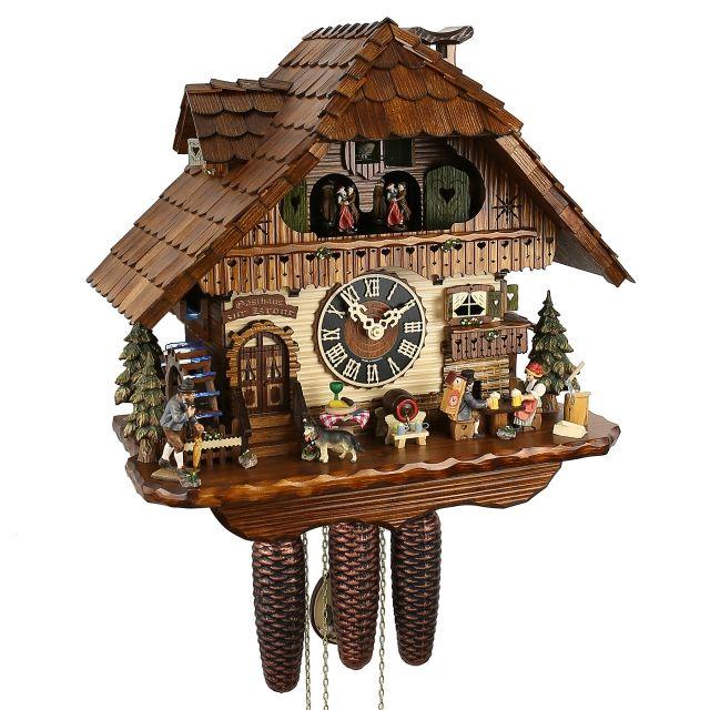 Kuckucksuhr Schwarzwaldhaus original,Biertrinker - Kuckucksuhren Shop - Original Kuckucksuhren aus dem Schwarzwald orologio tradizionale n con molti funzioni  -€1119,90 -
