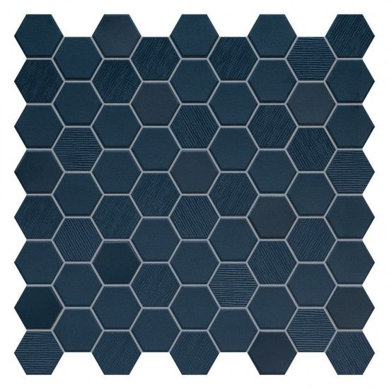 BETON STILL DEEP NAVY HEX MOSAIC 316 X 316