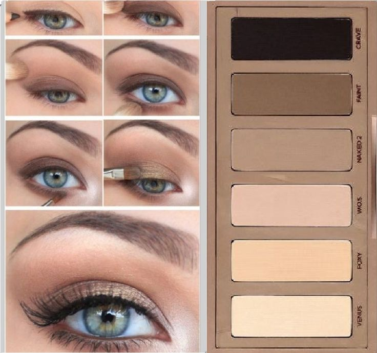 Natürliches Smokey Eye Makeup mit Urban Decay Naked Basics #basics #decay #mak…