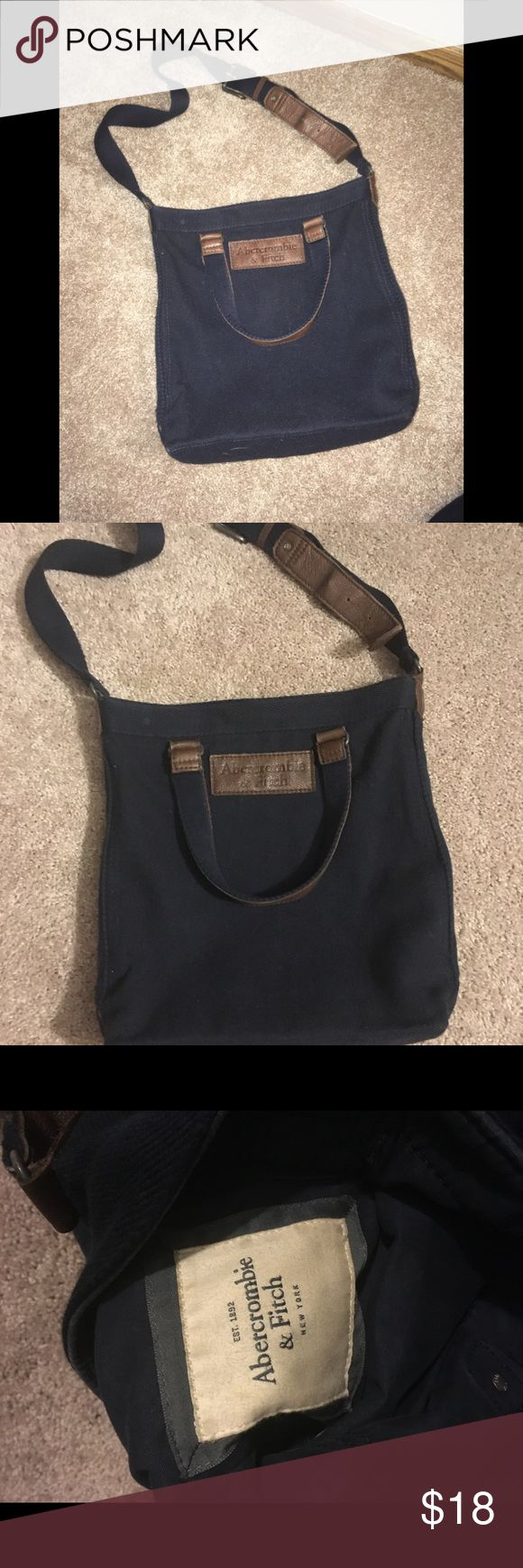 Navy blue Abercrombie and Fitch tote Navy blue Abercrombie and Fitch tote Abercrombie & Fitch Bags Crossbody Bags
