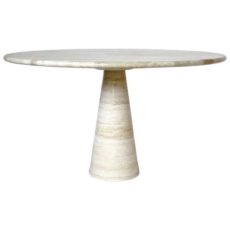 Angelo Mangiarotti Italian Travertine Marble Dining or Center Table | From a unique collection of antique and modern dining room tables at https://www.1stdibs.com/furniture/tables/dining-room-tables/