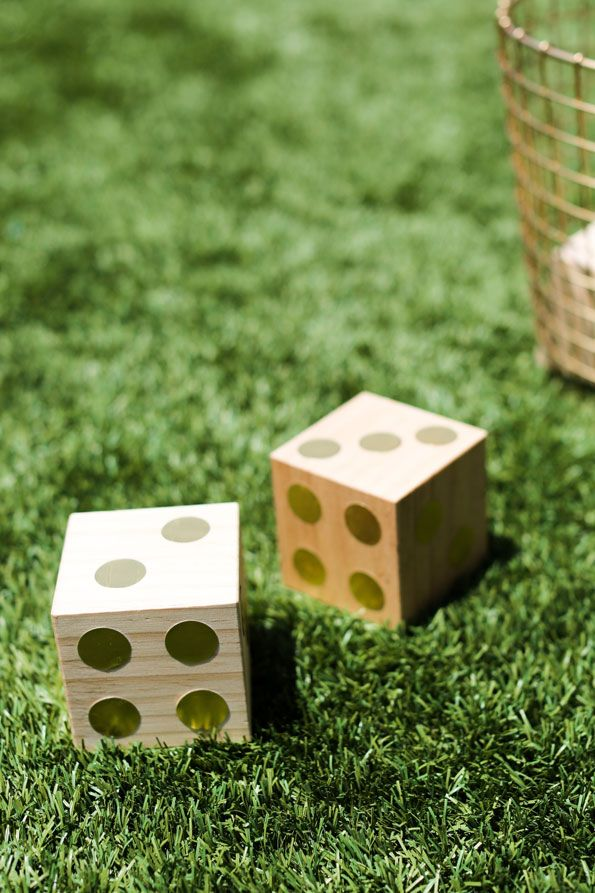 Let the good times roll with a diy giant dice game to for Large wooden blocks for crafts