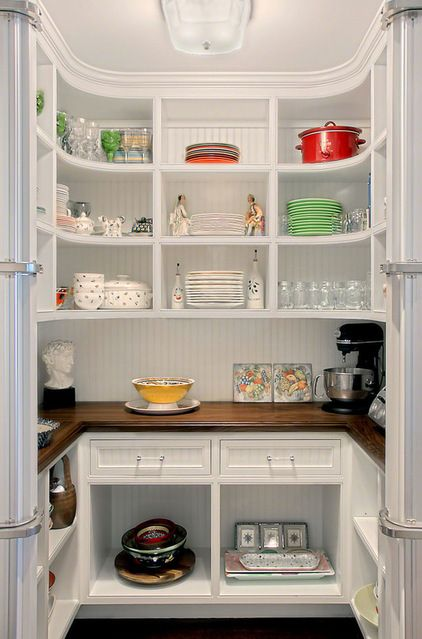 80 Pretty and Practical Pantries This collection of kitchen pantries covers a wide range of sizes, styles and budgets