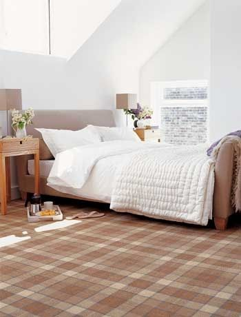 Checked country-style carpet