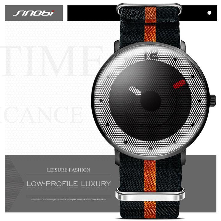 SINOBI New Style Men Watches 2017 Sports Watch For Men NATO Nylon Watchband Chronograph Quartz Wristwatches Relogio Masculino
