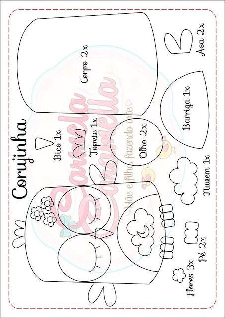Carmela Caramella : Moldes - corujinha