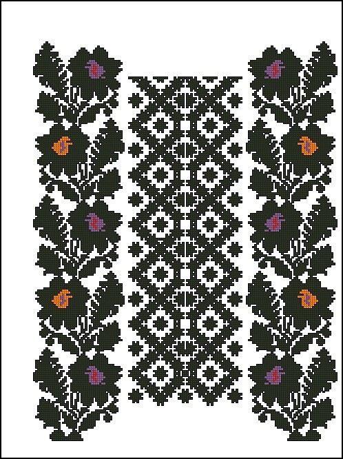 Gallery.ru / Фото #9 - схемы для вышиванок - zhivushaya