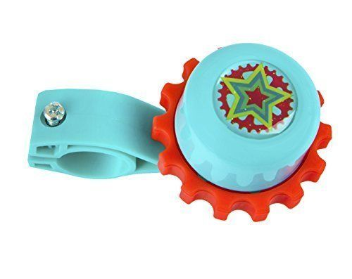 Volta Royal Regalia Twist Bell - Classic Accessory - Easily Attaches to Handlebars - Compatible with Nearly All Bikes - Teal and Red with Star Motif http://coolbike.us/product/volta-royal-regalia-twist-bell-classic-accessory-easily-attaches-to-handlebars-compatible-with-nearly-all-bikes-teal-and-red-with-star-motif/