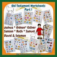 Old Testament Worksheets @ Bible Fun For Kids
