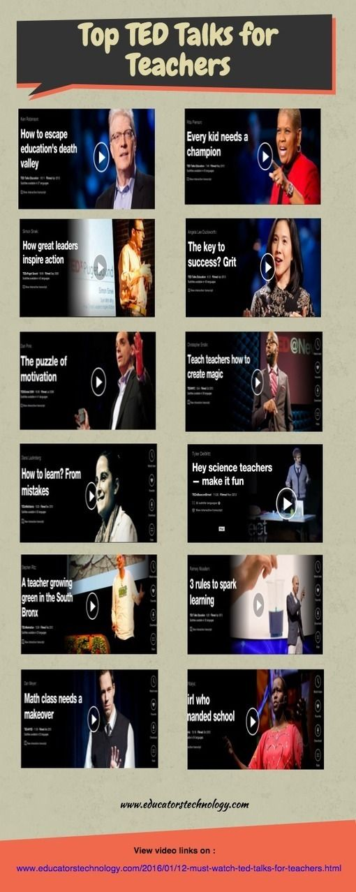 12 Must Watch TED Talks for Teachers ~ Educational Technology and Mobile Learning on iGeneration - 21st Century Education (Pedagogy & Digital Innovation) curated by Tom D'Amico (@TDOttawa)
