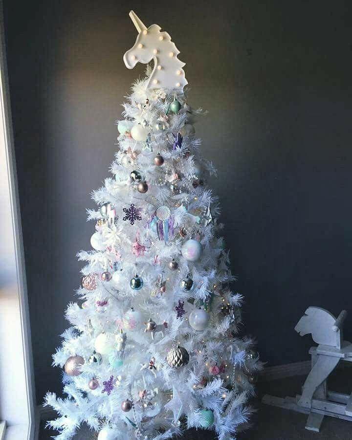Christmas Tree White Unicorn Tree ℭhris Mas ⴕrees