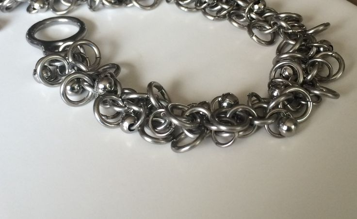 Fun accessory for your summer outfit! Stainless Steel shaggy bracelet! https://www.etsy.com/listing/292352807/stainless-steel-shaggy-bracelet?ref=shop_home_active_16