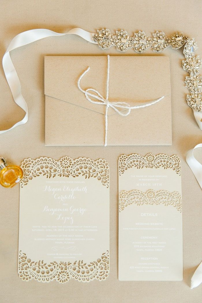 Neutral + Lace Cutouts   Photography: Ailyn  La Torre Photography