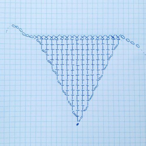 Double Crochet Triangle Shawl Pattern : 117 best images about Triangle crochet shawls on Pinterest ...