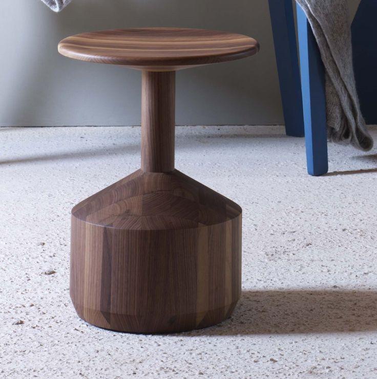 pezzo Stool miniforms:  solid wood stool