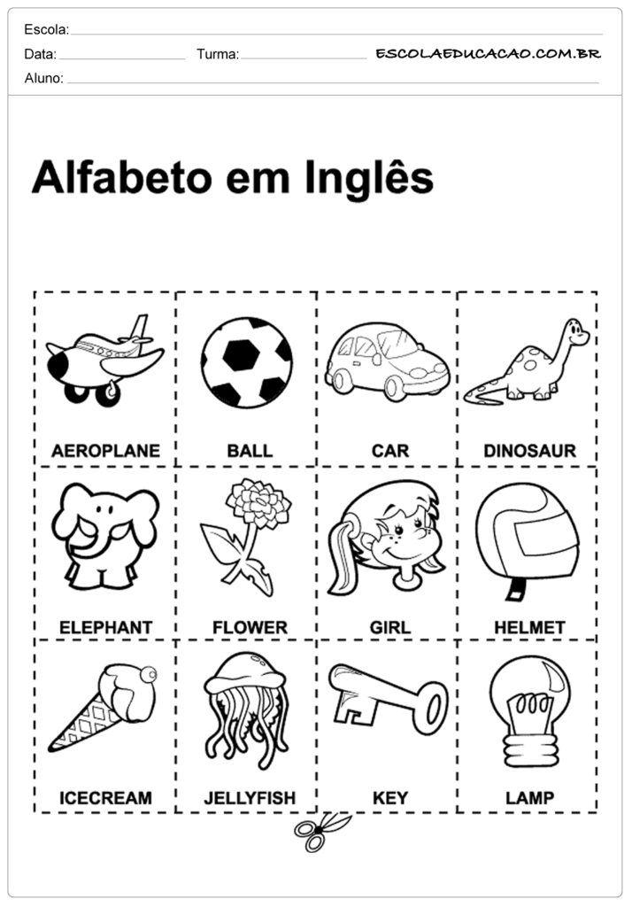 Atividades De Ingles Para Educacao Infantil Com Imagens