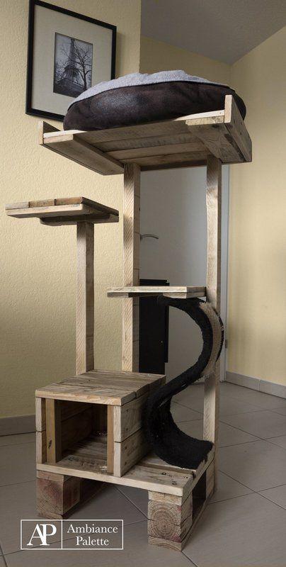 Kit pour chats fabriques avec des palettes 4