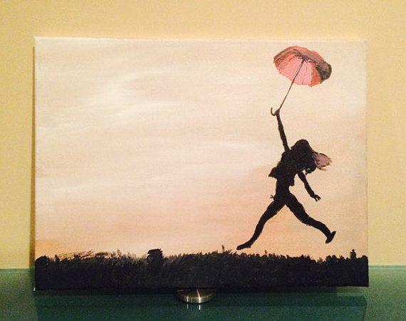 Original acrylic painting on stretched 12x16 by polarizedart