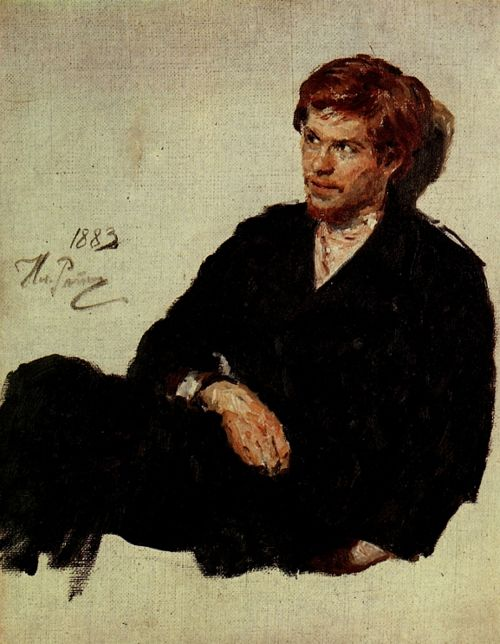 Student Nihilist, 1883 by Ilia Efimovich Repin (Russian, 1844-1930)